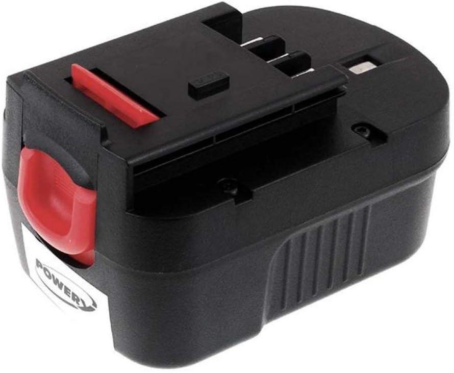 Powery Bater/ía para Black /& Decker Multi-Tool Quattro KC2002FK 2000mAh