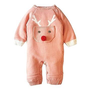 577147602 Amazon.com  Cute Christmas Deer Romper Newborn Baby Girl Boy Long ...