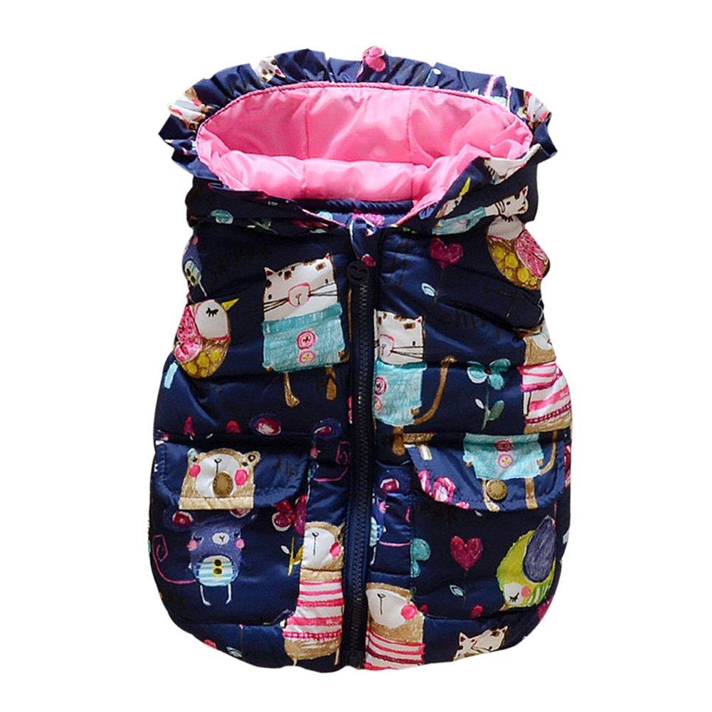 86846351b Reefa Baby Girls Winter Thick Warm Vest Waistcoat