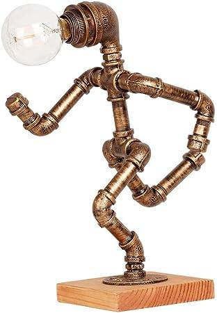 Modenny Conduites d'eau Art Décor Mesa Lampe De Bureau Loft