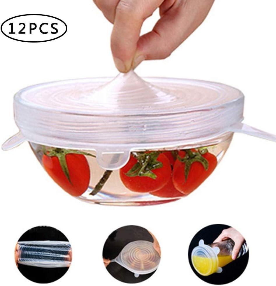Floridivy Stretch Cucina Mantenere Wrap Silicone coperchi Riutilizzabile Cling Film Bowl Guarnizione del Coperchio Microonde Riscaldamento Frigorifero