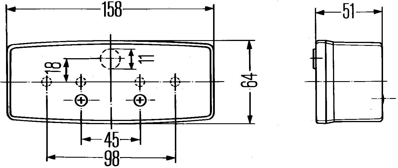 12V droite HELLA 2SD 003 184-041 Feu arri/ère