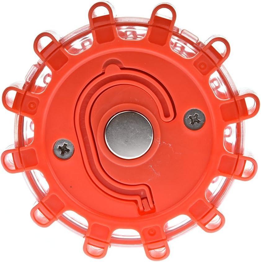Yunt Led Warnblinkleuchte Auto Blinklicht Warnlicht Mit Magnet Und Klapphaken Für Notfall Pannenhilfe 2w 200lm Ip44 Wasserdicht Auto