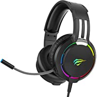 Auriculares Gaming para PS4 HAVIT Iluminación RGB Cascos Gaming Sonido Envolvente, Controlador de 50MM y micrófono con…