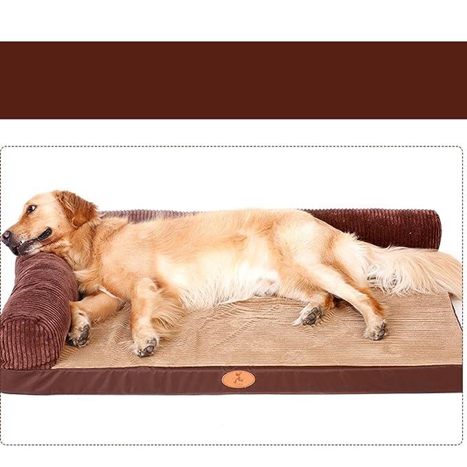 MUJING Oxford - Almohadilla para perro, grande, labrador para perro, cama para mascotas, totalmente extraíble y lavable, cama grande para mascotas (102 x 90 ...