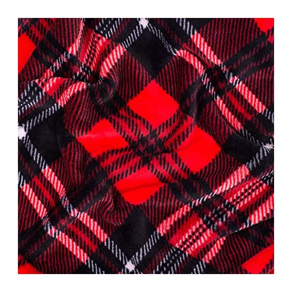 SOCHOW Flannel Fleece Blanket 50 × 60 Inches, All Season Plaid Red/Grey Blanket for Bed, Couch, Car - MATERIAL&DESIGN:These flannel blankets are 100% high-quality polyester fiber. The thick and thin lines are interspersed to emphasize the texture of the blankets, which are endowed with modern style without compromising comfort.They are extremely soft and warm with delicate package edge, rigorously designed with rigorous broad-brimmed pattern. Besides, they also feature seamless round edge, solid and beautiful. EASY CARE: - Machine washable under 30 degrees -Easy to store, -Wrinkle-resistant -High color fastness &No hair off. MULTI FUNCTIONS:Suitable use for couch, chair, car, bed or on the floor. It's also easy to take to outdoors. - blankets-throws, bedroom-sheets-comforters, bedroom - 61wDtnuMsTL. SS570  -