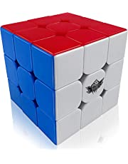 FAVNIC Speed Cube Stickerless Enhanced Version Smooth Magic Cube Puzzles for Kids 3X3X3