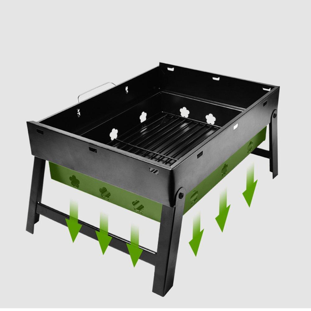 Amazon.com: zz-aini plegable parrillas de carbón, portátil ...