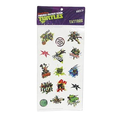 Hoja tattoos Tortugas Ninja: Amazon.es: Juguetes y juegos