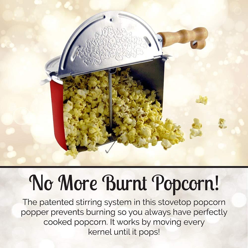 Whirley-Pop Stovetop Popcorn Popper Nylon Gear, Red