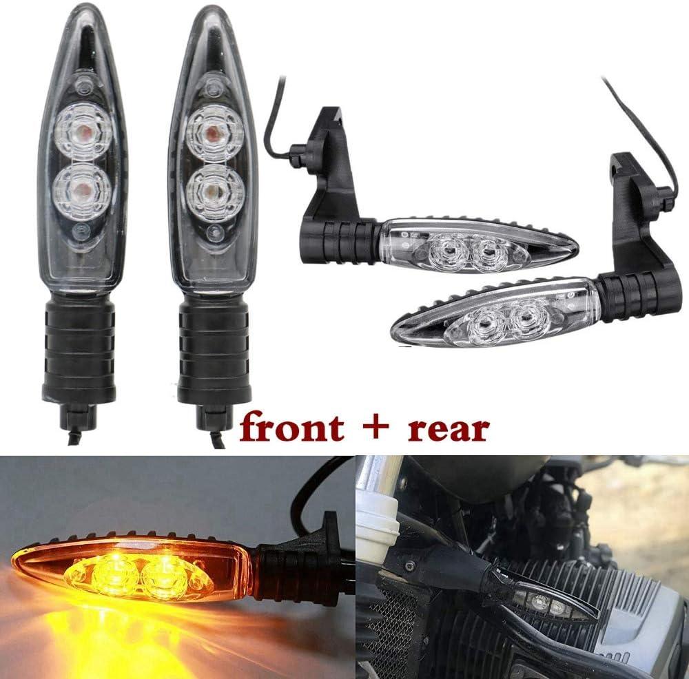 SODIAL Rear Turn Indicator Signal Led Lights for R1200Gs F800Gs S1000Rr F800R K1300S G450X F800St R Nine T