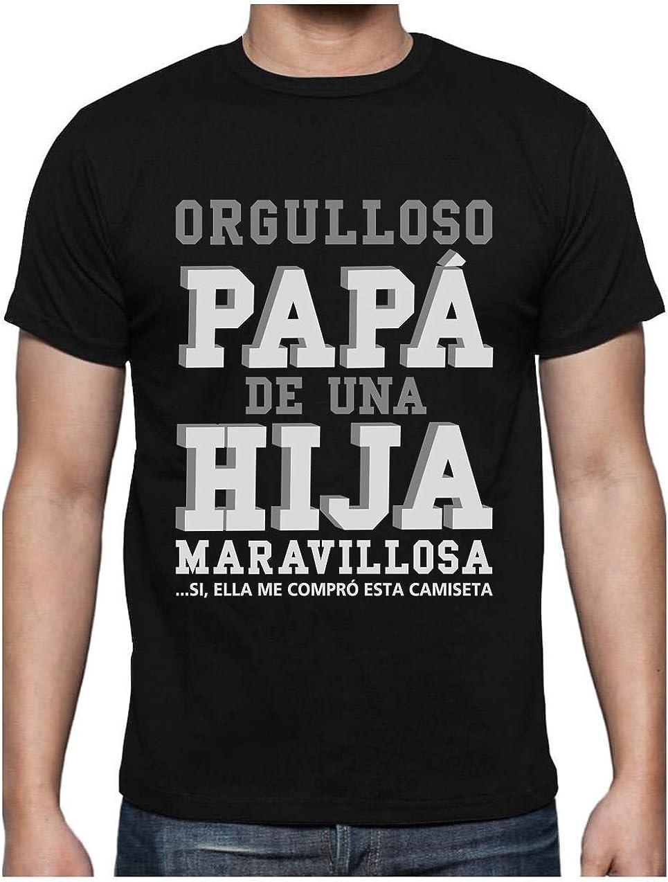 Green Turtle T-Shirts Camiseta para Hombre - Regalos para Hombre, Regalos para Padres. Camisetas Hombre Originales y Divertidas - Orgulloso Papá de una Hija Maravillosa