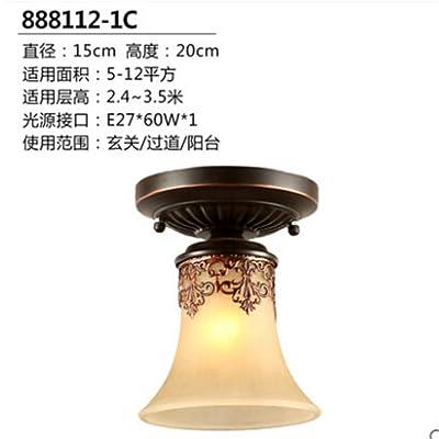 ANGEELEE Cuisine Américaine Moderne Lampe De Plafond Chambres Balcon  Corridor Lumières Lampes Feux Ronde Allée Hyun