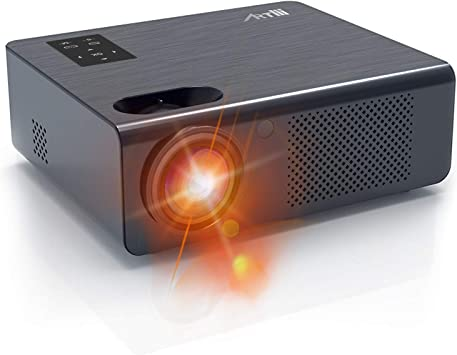 Home Theater Projector - Artlii Full HD Movie Projector with Zoom, 200 ANSI Overhead Projector, LED Projector with 250