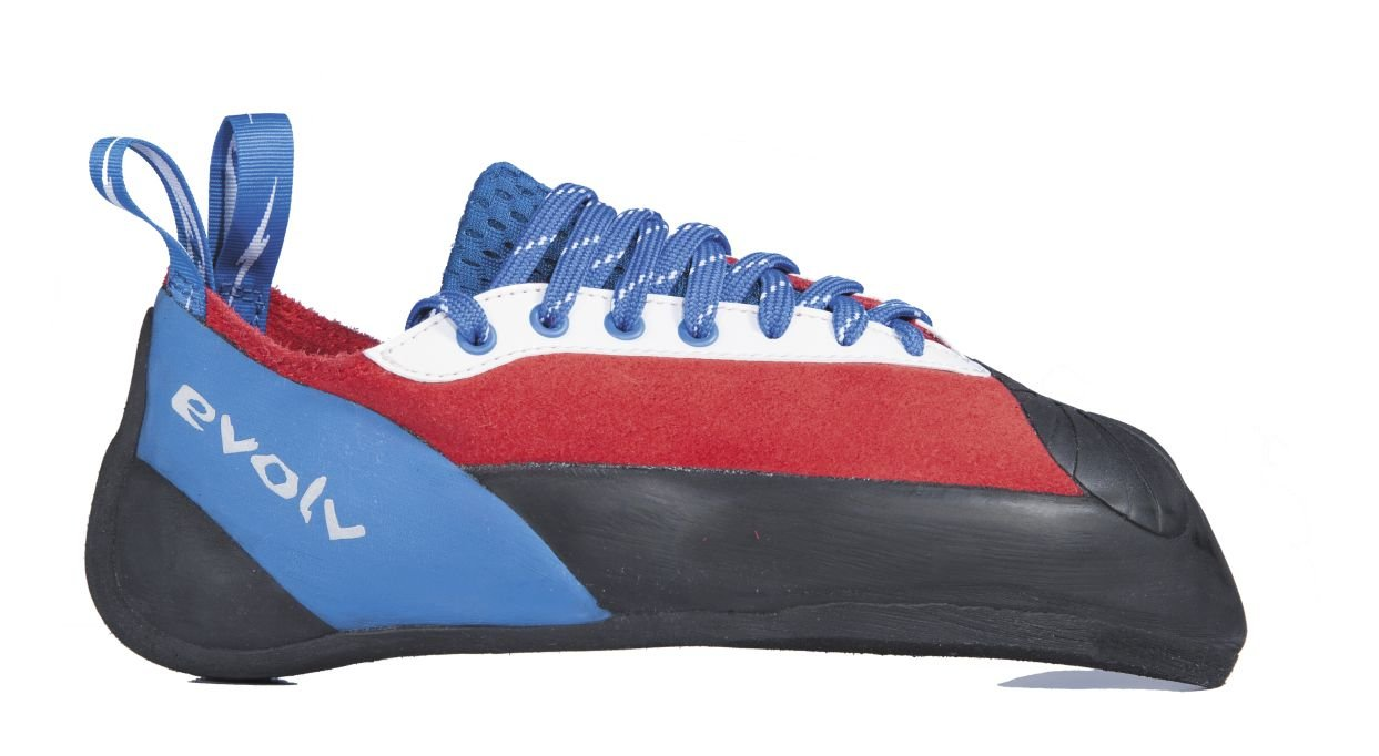 Evolv Ashima Climbing Shoe - Red/White/Blue 5.5 by Evolv