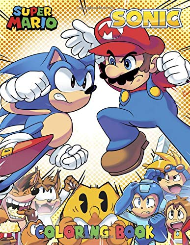 Mario and Sonic Coloring Book: Coloring Book for Kids Aged 4 - 8, Mario and Sonic Coloring Book