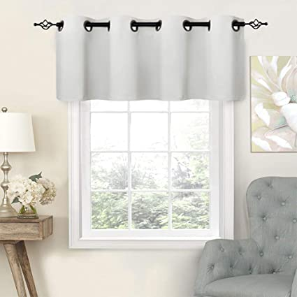 White Valances Bathroom Windows 16 inch Curtain Valance Kitchen Window  Grommet Bedroom Valance Curtains Living Room