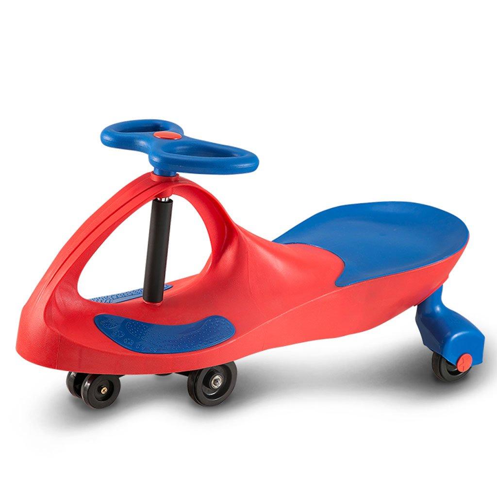 Kinder Twist Car Yo Auto Caster Schaukel Auto 1-6 Jahre alt Baby Walker Balance Auto 81  30,5  41,5 cm (Farbe   ROT)