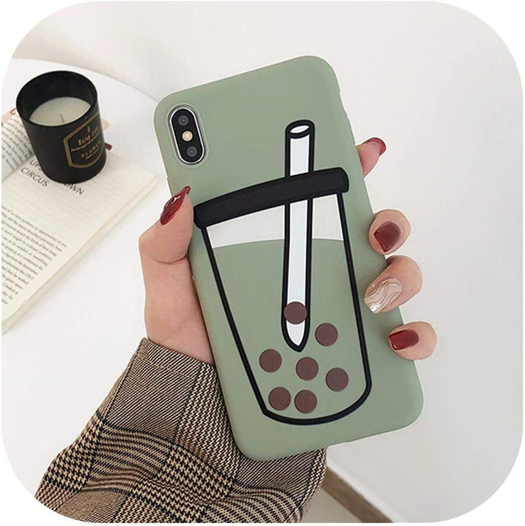 Sassy Phone Case| Cute Green Cactus Phone Case for iPhone 11 Pro Max XR X XS Max 7 8 6S Plus Candy Color Case Soft TPU Phone Back Cover-d-for iPhone 11 Pro