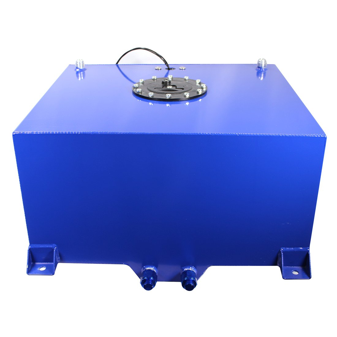 20 Gallon OEM Polished Fuel Cell Gas Tank with Level Sender Hot Rod,Blue