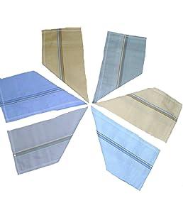 Roomalwala Men's Handkerchief (Pack of 12, Multi-Coloured)