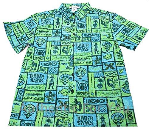 Disney Polynesian Resort Trader Sams Grotto Hawaiian Tiki Room Mens Camp Shirt