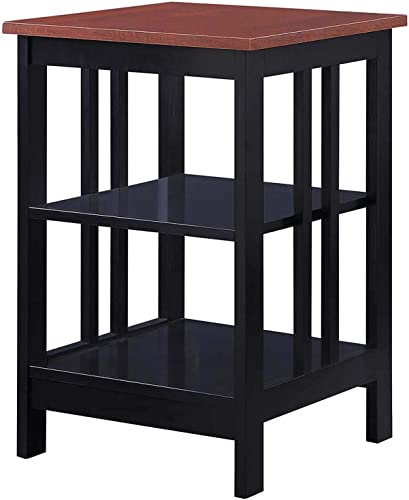 Convenience Concepts Mission End Table, Cherry Black