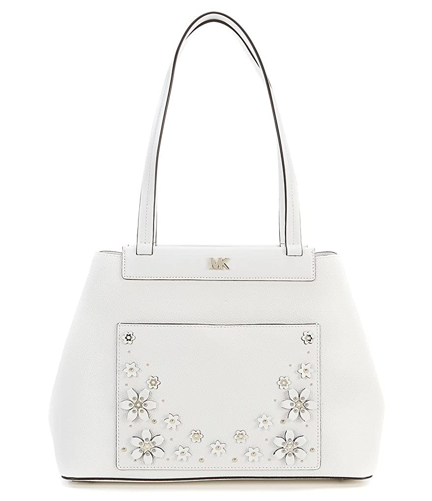 a8a735df9895 Amazon.com: MICHAEL Michael Kors Meredith Medium Bonded Tote Optic White:  Shoes