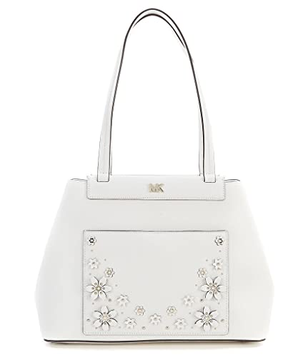 7bb189af50857 Amazon.com  MICHAEL Michael Kors Meredith Medium Bonded Tote Optic White   Shoes