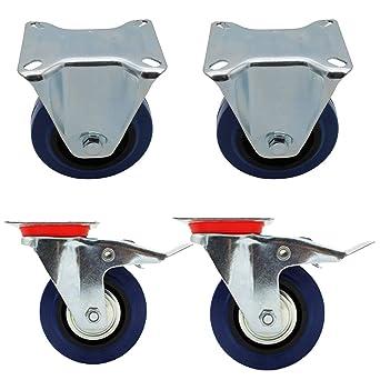 Miafamily ruedas de transporte la Industria cargas pesadas ruedas ruedas fijas y ruedas con freno Azul