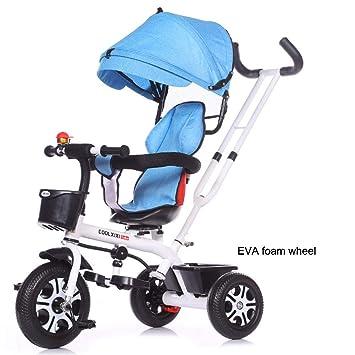 TRICYCLE Niños Trike Triciclo 4 en 1 Bicicleta de bebé de 3 Ruedas ...