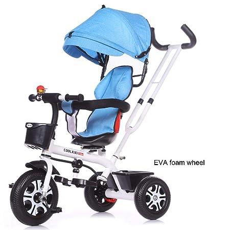 TRICYCLE Niños Trike Triciclo 4 en 1 Bicicleta de bebé de 3 ...