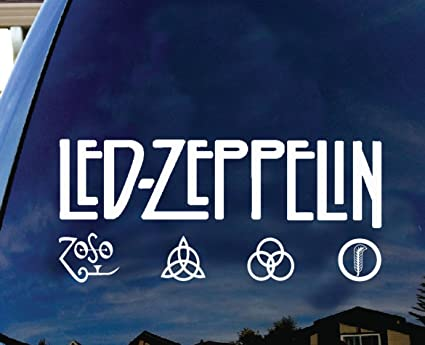 Led zeppelin british rock band album logo silhouette car truck laptop window decal sticker 8 inches