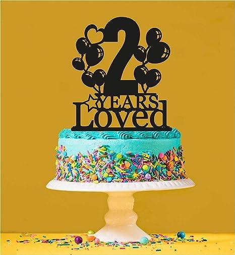 Decoración para tarta de 2º cumpleaños, 2 años de edad ...