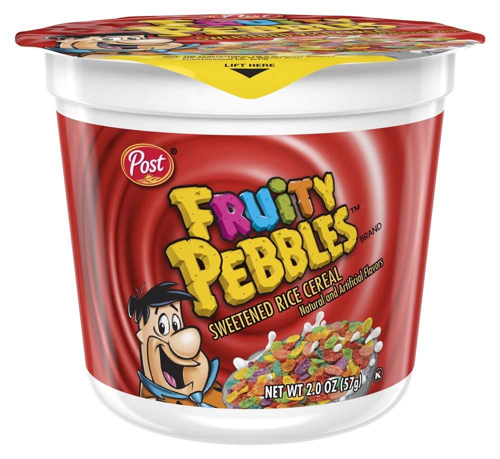 Amazon.com : Post Cocoa Pebbles Cereal, 2.1-Ounce Cups