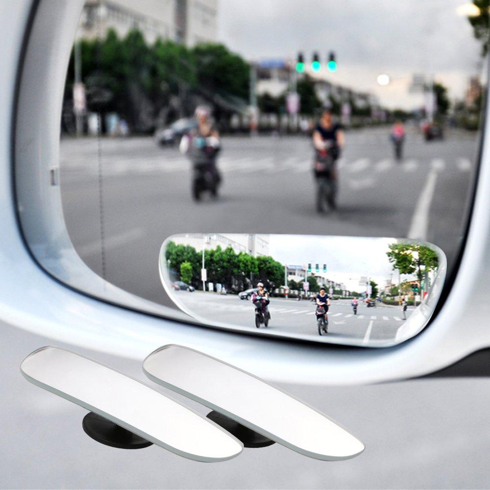 TiooDre Espejo retrovisor del coche autom/Ã/¡tico de seguridad de punto ciego espejo gran angular espejo convexo para estacionamiento