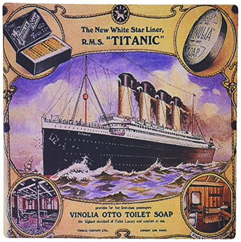 Cruise Collage (3dRose 8 x 8 x 0.25 Inches Image of Rare Collage Ad for the Titanic Cruise Mouse Pad (mp_163164_1))