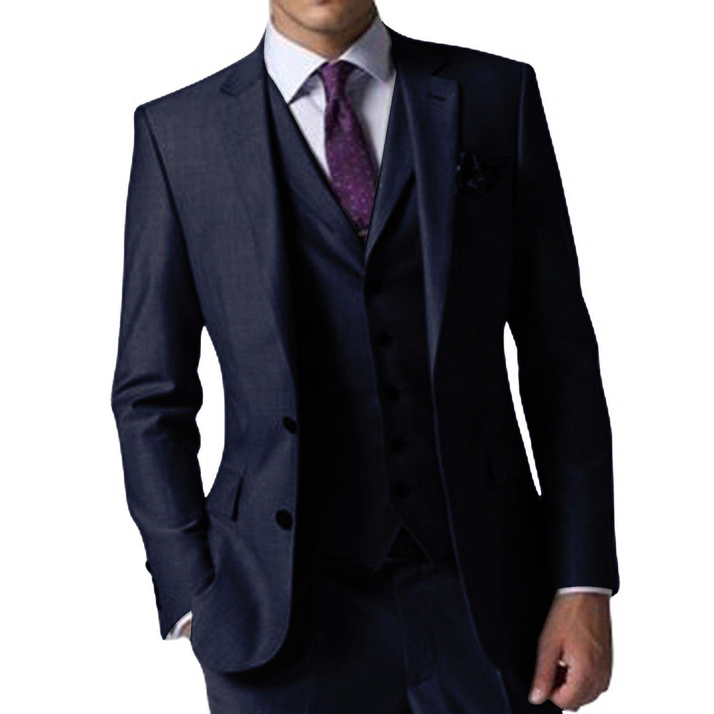 (エブレドレス)everydress カジュアルスーツ メンズスーツ 3ピース スリム オシャレスーツメンズ 紳士服 スーツ 結婚式 メンズ B07BK4Z5BH S|ネイビー ネイビー S