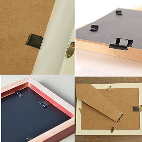 100 piezas S Tipo Metal soporte de pared para álbum, fotos, ilustraciones, para colgar marcos con ganchos, clips en forma de S: Amazon.es: Hogar