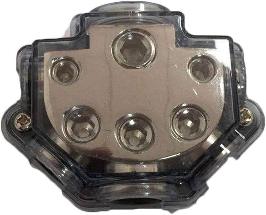 Sydien 1 in 5 Ways Out Way Power Distribution Block 0//2//4 Gauge in 2//4//8 Gauge Out Car Audio Splitter Power Ground Distributor Blocks
