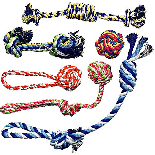 Otterly Pets Small Puppy Dog Rope Toys for Play Chew Teething and Boredom – for Smaller Dogs (6-Pack)