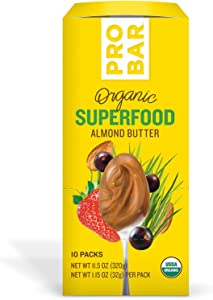 PROBAR - Nut Butters, Superfood Almond Butter, Non-GMO, Gluten-Free, USDA Certified Organic, Healthy, Plant-Based Whole Food Ingredients, Natural Energy (10 Count)