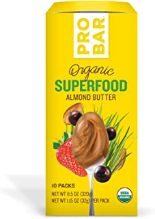 product image for PROBAR - Nut Butters, Superfood Almond Butter, Non-GMO, Gluten-Free, USDA Certified Organic, Healthy, Plant-Based Whole Food Ingredients, Natural Energy (10 Count)