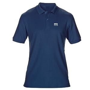 VIA PRINT Polo golf ENFANT Marine AUGUSTA 190 g/m_ 50% polyester DyBlend¨ / 50% coton prŽrŽtrŽci. Matire DryBlend¨ respirante OFFERT pour l'achat de ce produit VOS INITIALES BRODEES Taille L 9/11