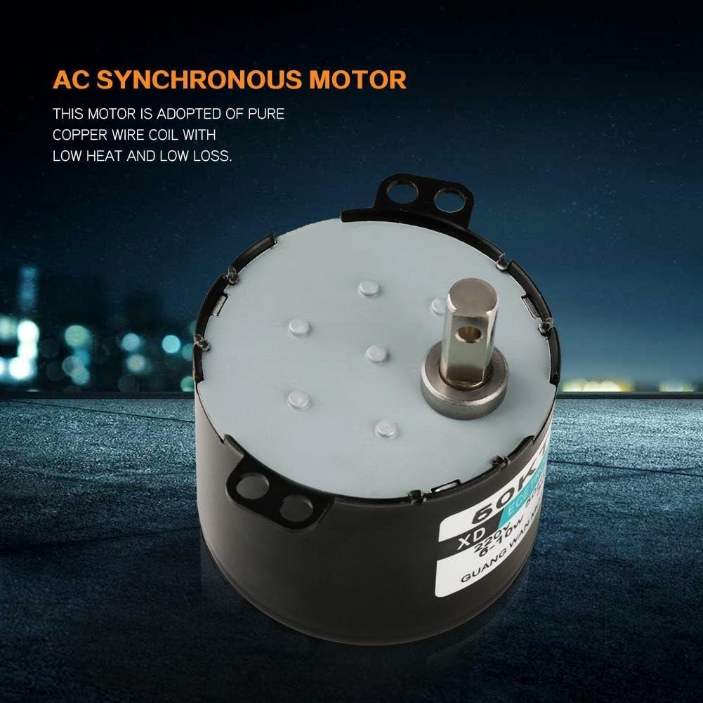 AC 220V Moteur Synchrone dEngrenage CW//CCW /à Couple R/éduit 5-50RPM 6-10W Moteur Synchrone dEngrenage Miniature 10turns