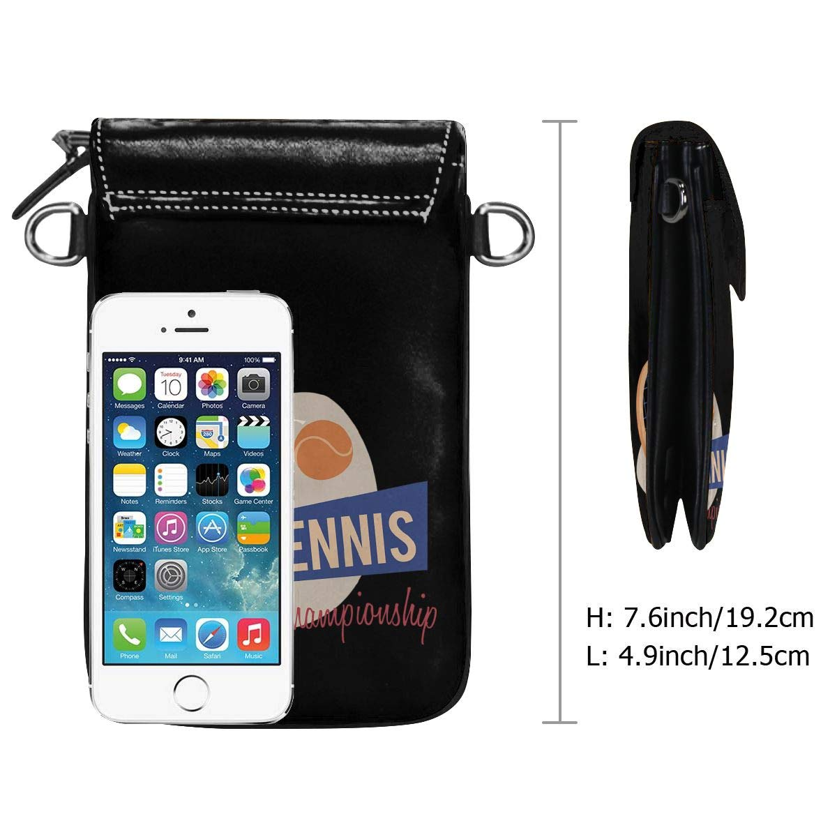 Small Cell Phone Purse For Women Leather Championship Tennis Insides Card Slots Crossbody Bags Wallet With Shoulder Strap