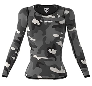 Smmash Femme Compression Fit T-Shirt MILITARY Taille XS XL