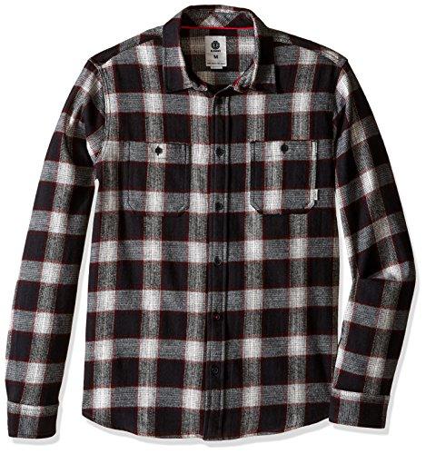 Element Men's Medford Flannel Shirt, Bone White, - Sunglasses Oxford Street