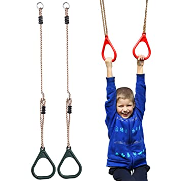 Amazon Com Children Trapeze Bar Pull Up Gym Rings Kids Playground