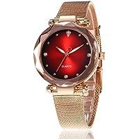 Redpol Women Casual Rhinestone Round Shape Quartz Wristwatch Wrist Watches